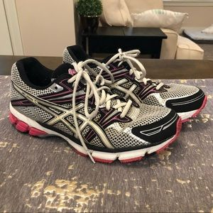 ASICS GT-1000 Duomax Grey & Pink Running Shoes